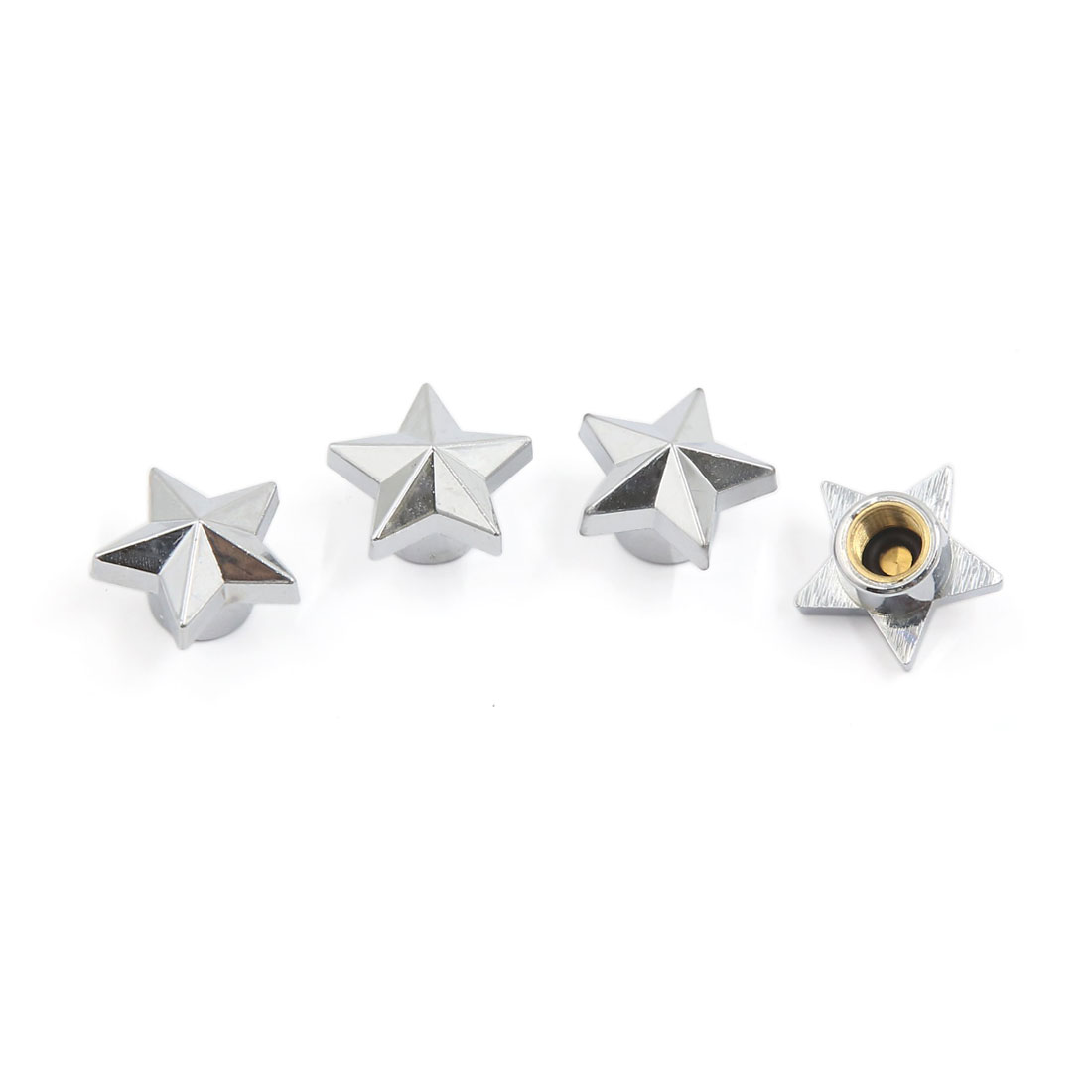 Star Shape Bicycle Motorcycle Car Tyre Tire Wheel Valve Dust Cap Covers 4PCS