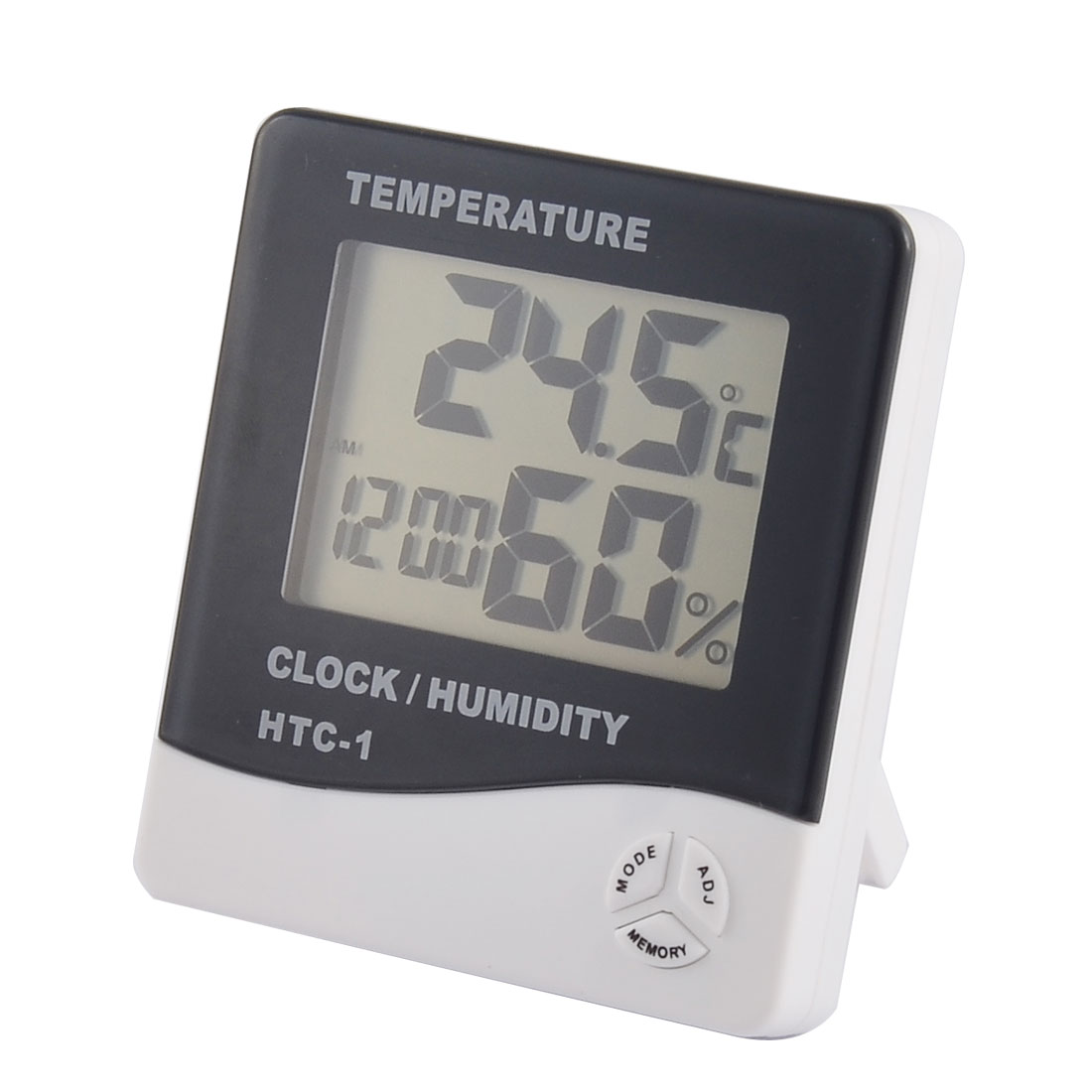 Indoor Digital LCD Time Display Alarm Clock Temperature Humidity Meter Thermometer Hygrometer
