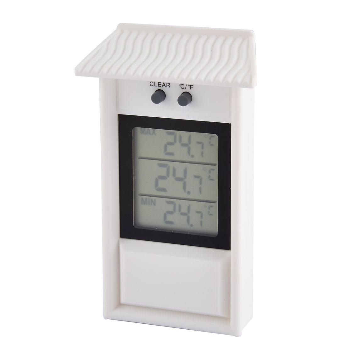 Garden Outdoor Fridge Water Resistant Auto Sensor Memory Function Thermometer Temperature Meter