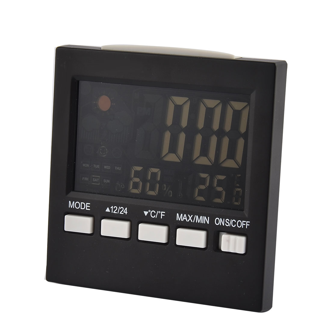 Electronic LCD Back Light Digital Alarm Snooze Temperature Humidity Meter Weather Station