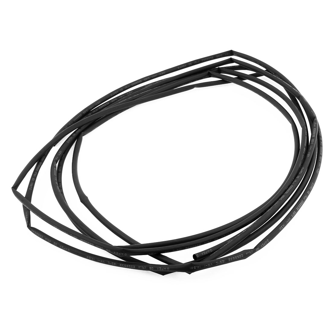 5m 4.5mm Diameter 2:1 Shrinkage Ratio Insulated Heat Shrink Tubing Black