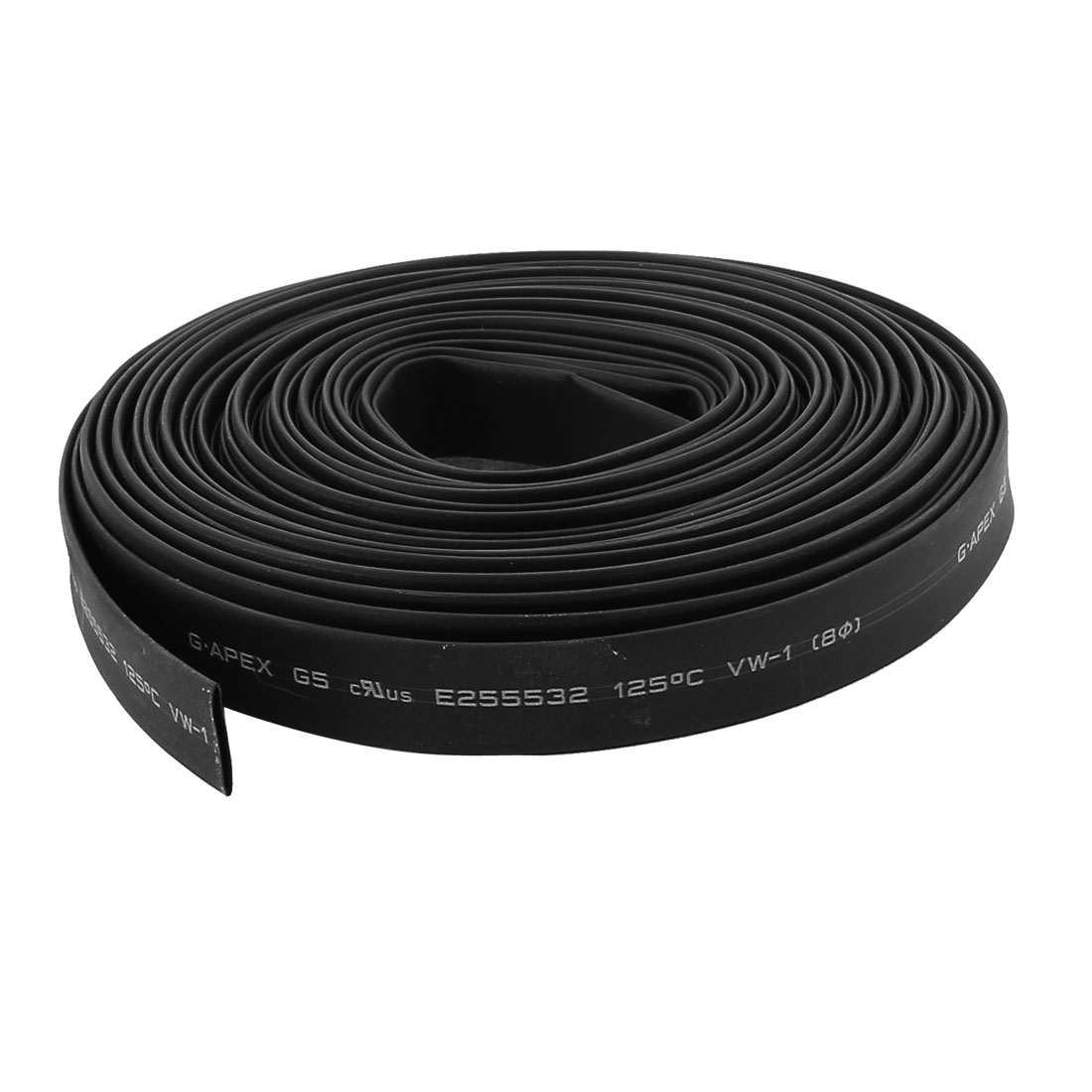 32.8ft x 8mm Diameter 2:1 Shrinkage Ratio PE Insulated Heat Shrink Tubing Black