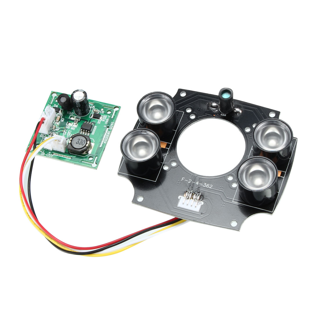 Array 4 High Power 32mm Lens Hole Infrared IR LED PCB Lamp Board Module For CCTV Camera