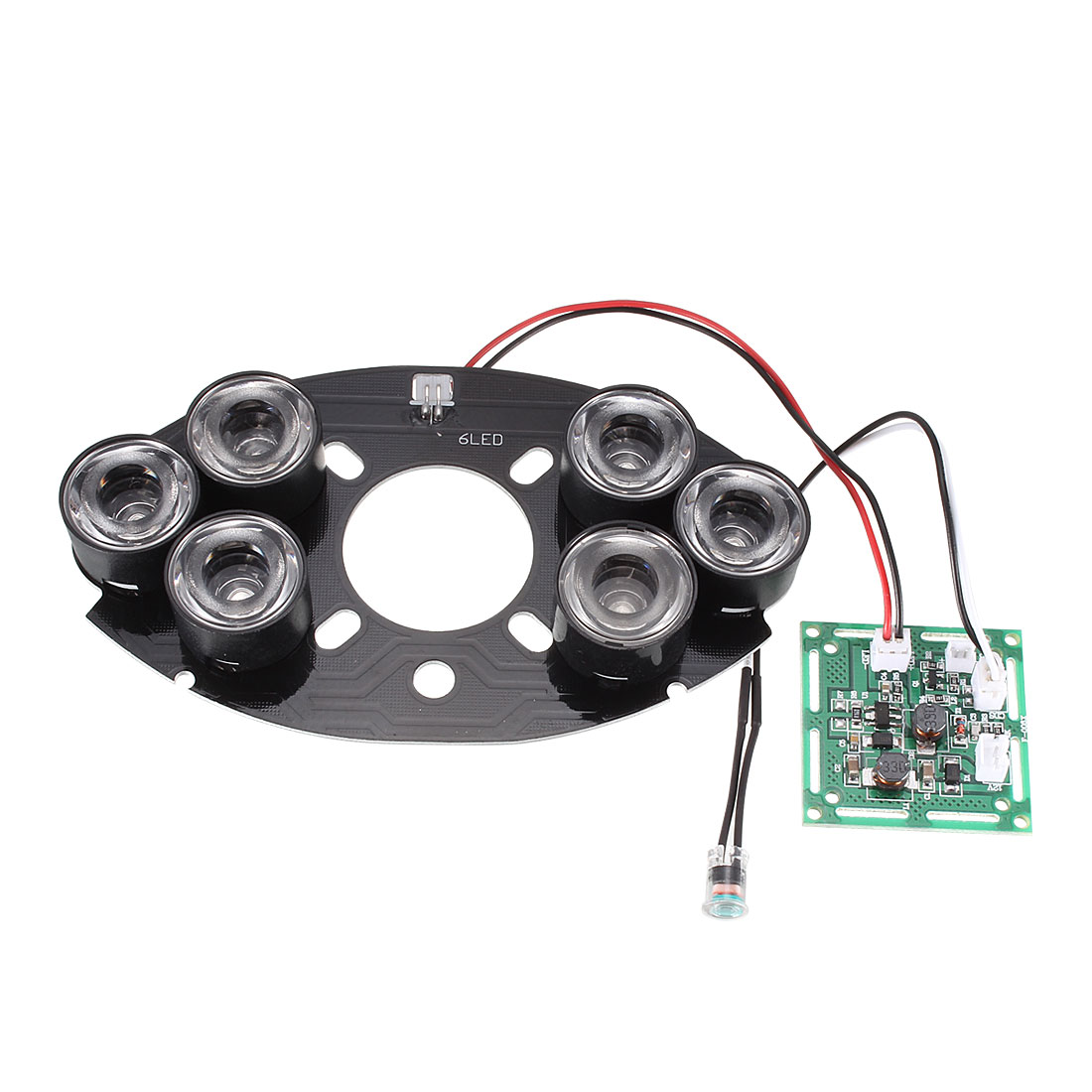 6 High Power 23mm Diameter Infrared IR LED Lamp Oval Board Module For CCTV Camera
