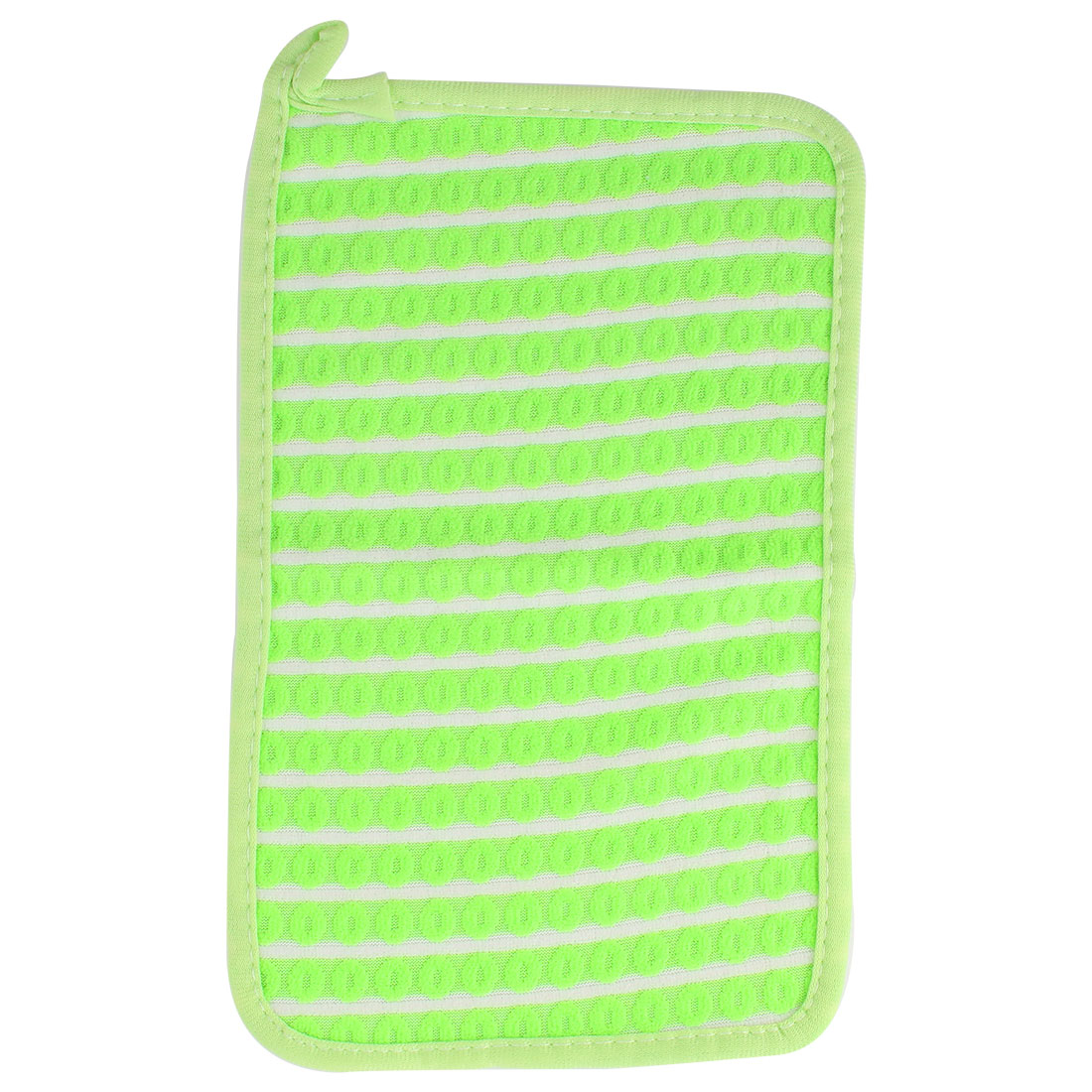 Home Kitchenware Rectangle Design Bowl Pot Dish Scrub Wiping Cleaning Cloth Green