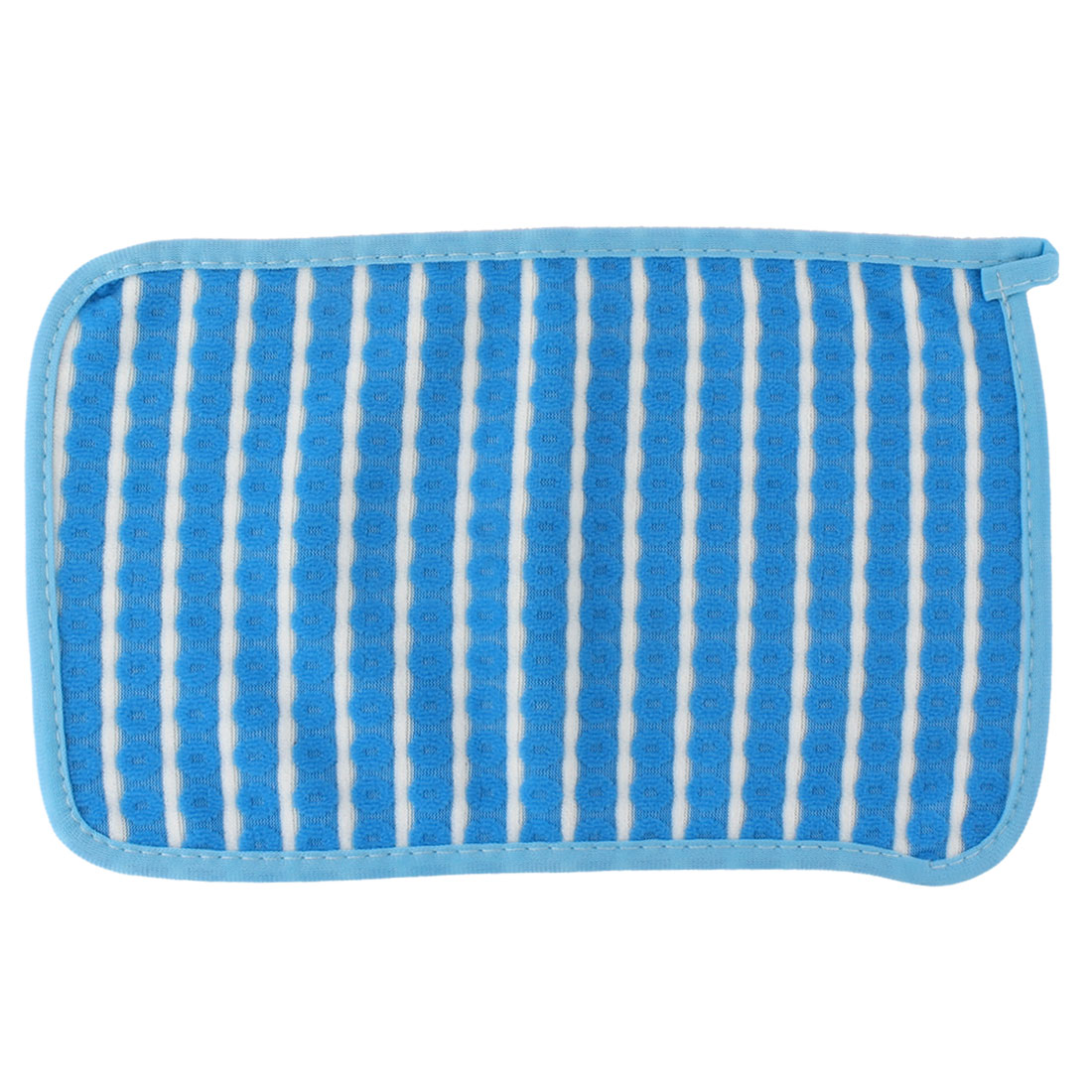 Home Kitchenware Rectangle Design Bowl Pot Dish Scrub Wiping Cleaning Cloth Blue