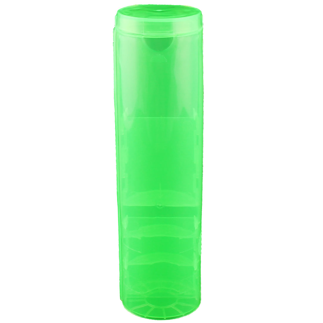 Home Office Plastic Cylindrical Design Detachable Stationery Holder Clear Green