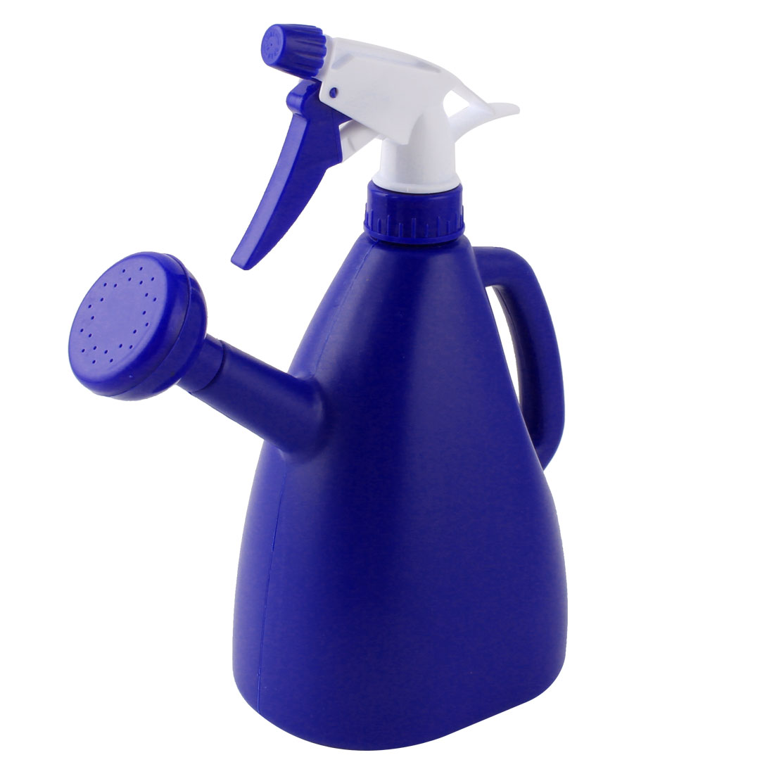 Garden Flower Plant Plastic Dual Purpose Double-end Trigger Spray Water Bottle Blue 890ml