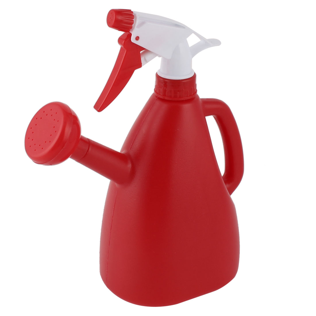 Garden Flower Plant Plastic Dual Purpose Double-end Trigger Spray Water Bottle Red 890ml