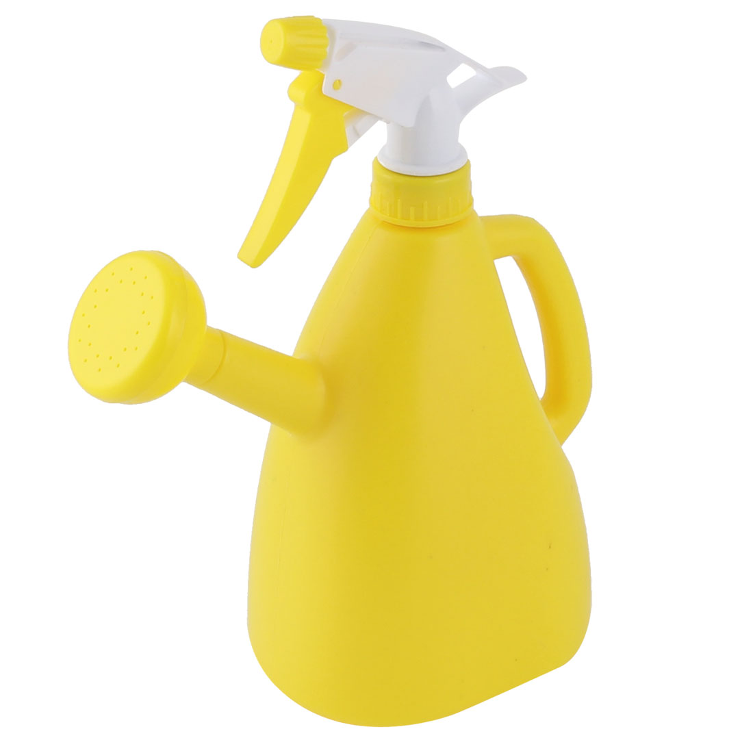 Garden Flower Plant Plastic Dual Purpose Double-end Trigger Spray Water Bottle Yellow 890ml
