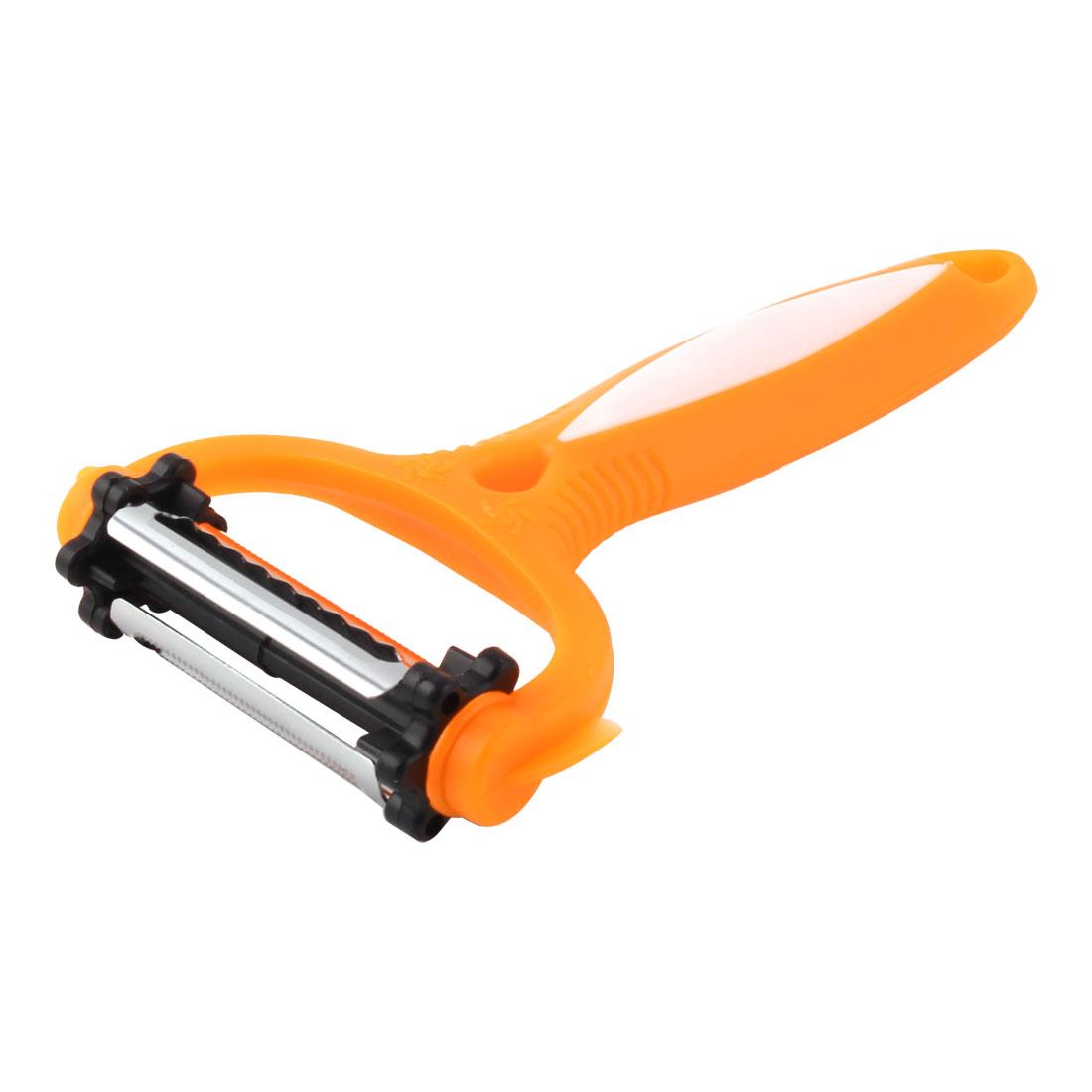 Plastic Handle Stainless Steel Rotatable Blade Fruit Vegetable Slicer Cutter Peeler Orange