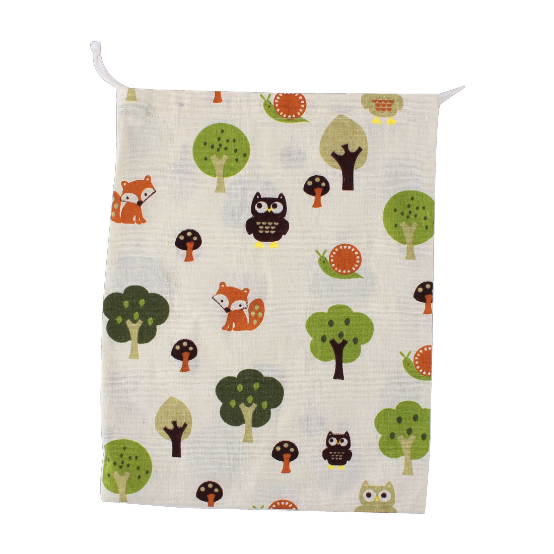 Household Travel Cotton Linen Tree Pattern Storage Packing Bag Drawstring Pouch Holder