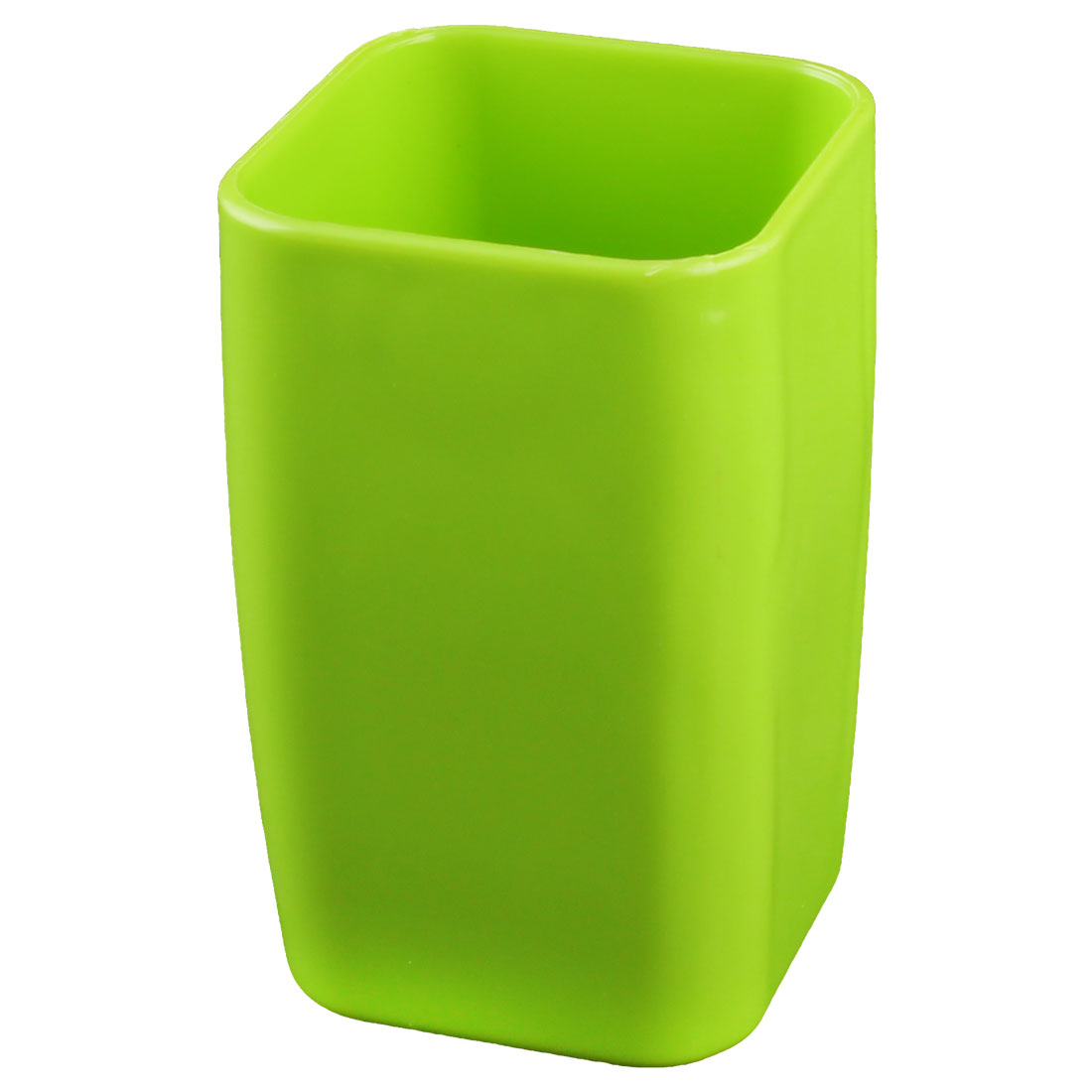 Home Bathroom Plastic Cuboid Shaped Toothbrush Toothpaste Gargle Cup Holder Green 290ml