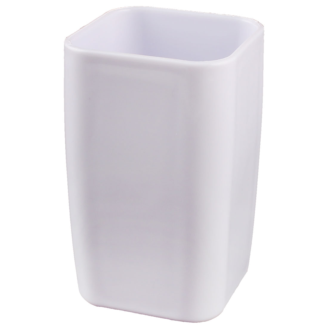 Home Bathroom Plastic Cuboid Shaped Toothbrush Toothpaste Gargle Cup Holder White 290ml