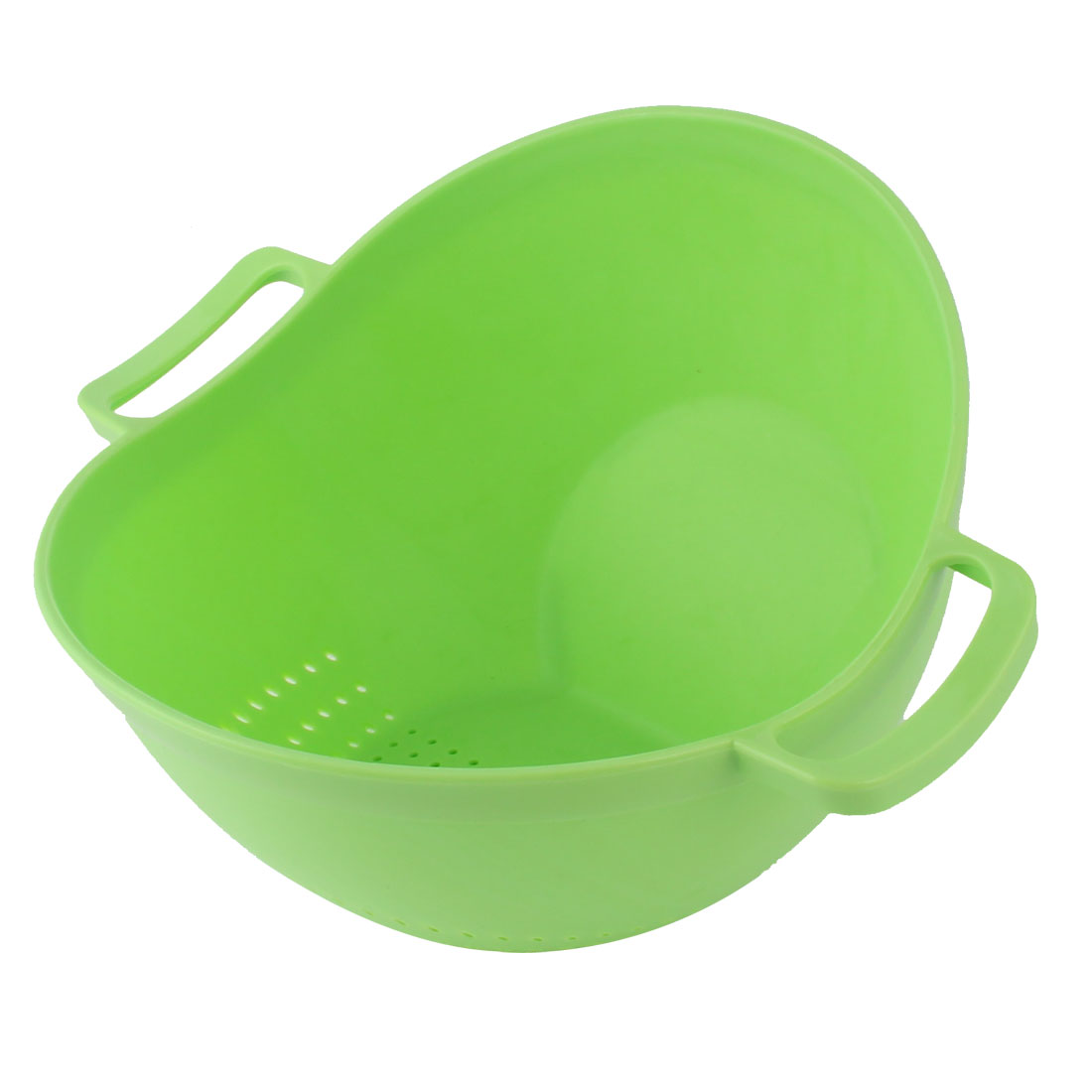 Home Kitchenware Plastic Wash Rice Sieve Vegetables Basin Cleaning Tool Green