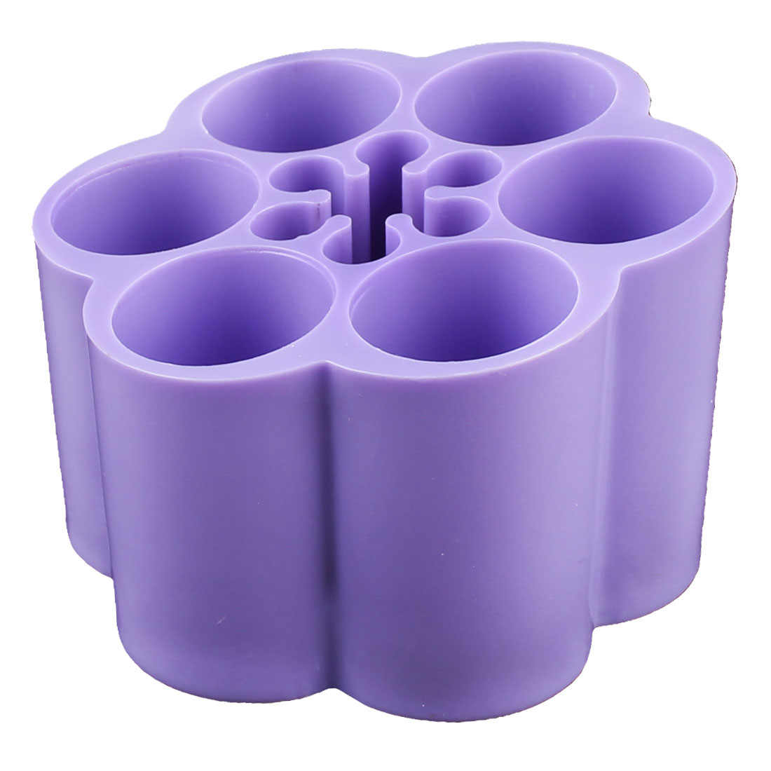 Household Desktop Plastic Cosmetic Makeup Tools Organizer Storage Box Holder Purple