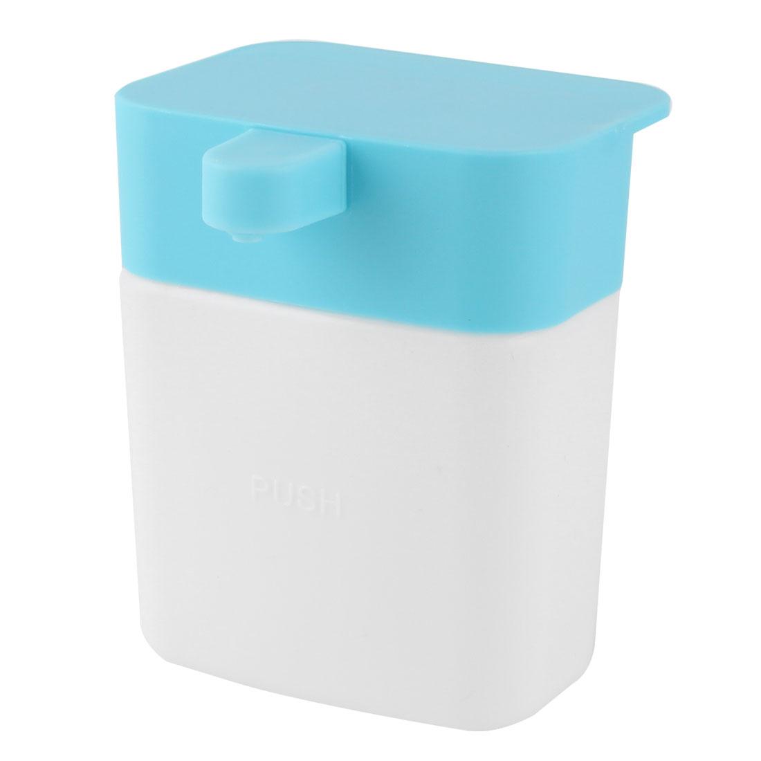 Household Kitchen Plastic Dishwashing Liquid Suction Cup Storage Box Holder Blue 200ml