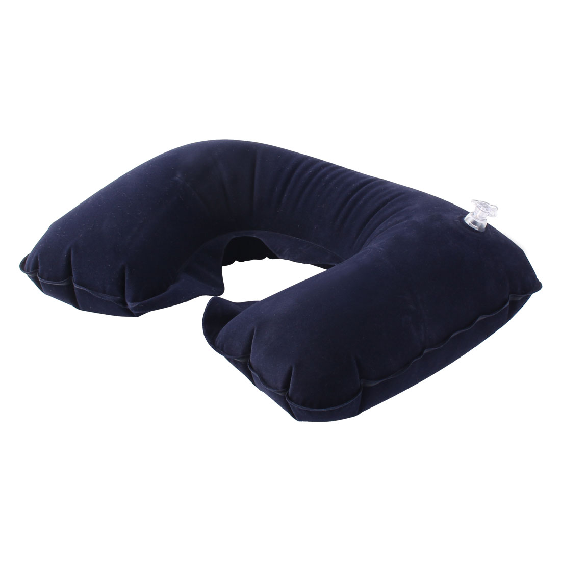 Travel Camping U Shaped Inflatable Head Neck Relief Rest Pillow Support Dark Blue