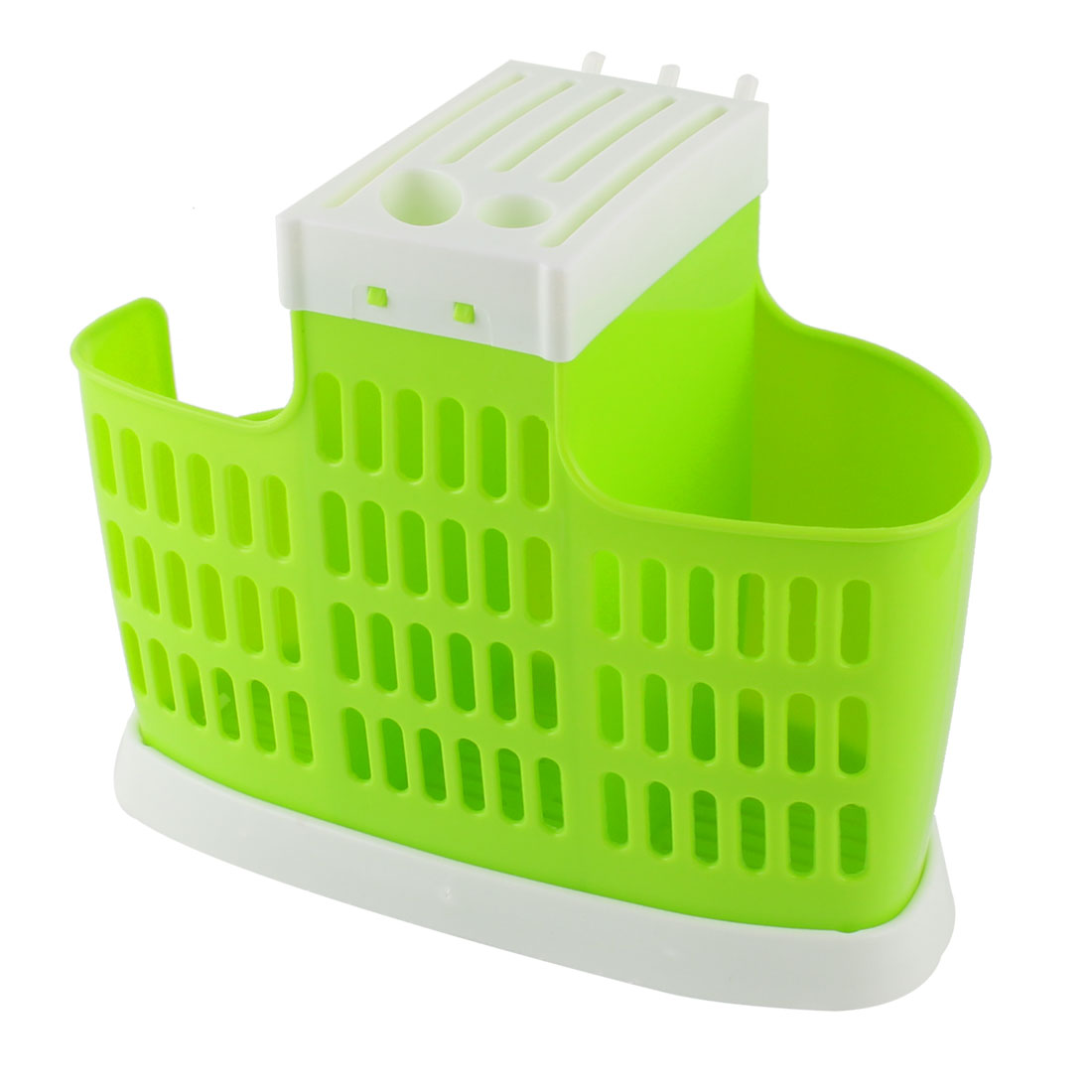 Home Kitchen Plastic Chopsticks Spoon Cutters Hollow Out Basket Case Cage Holder Green