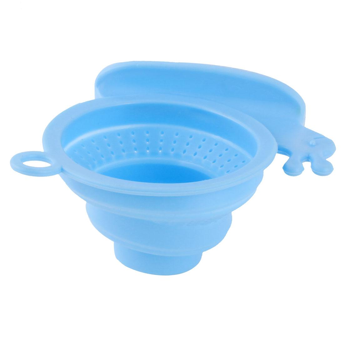 Household Bathroom Silicone Snail Design Basin Sink Floor Drainer Strainer Stopper Filter Blue