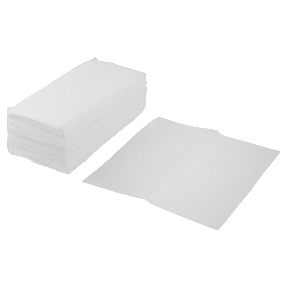 Kitchenware Rectangle Design Disposable Bowl Pot Dish Wiping Cleaning Cloth White 80pcs