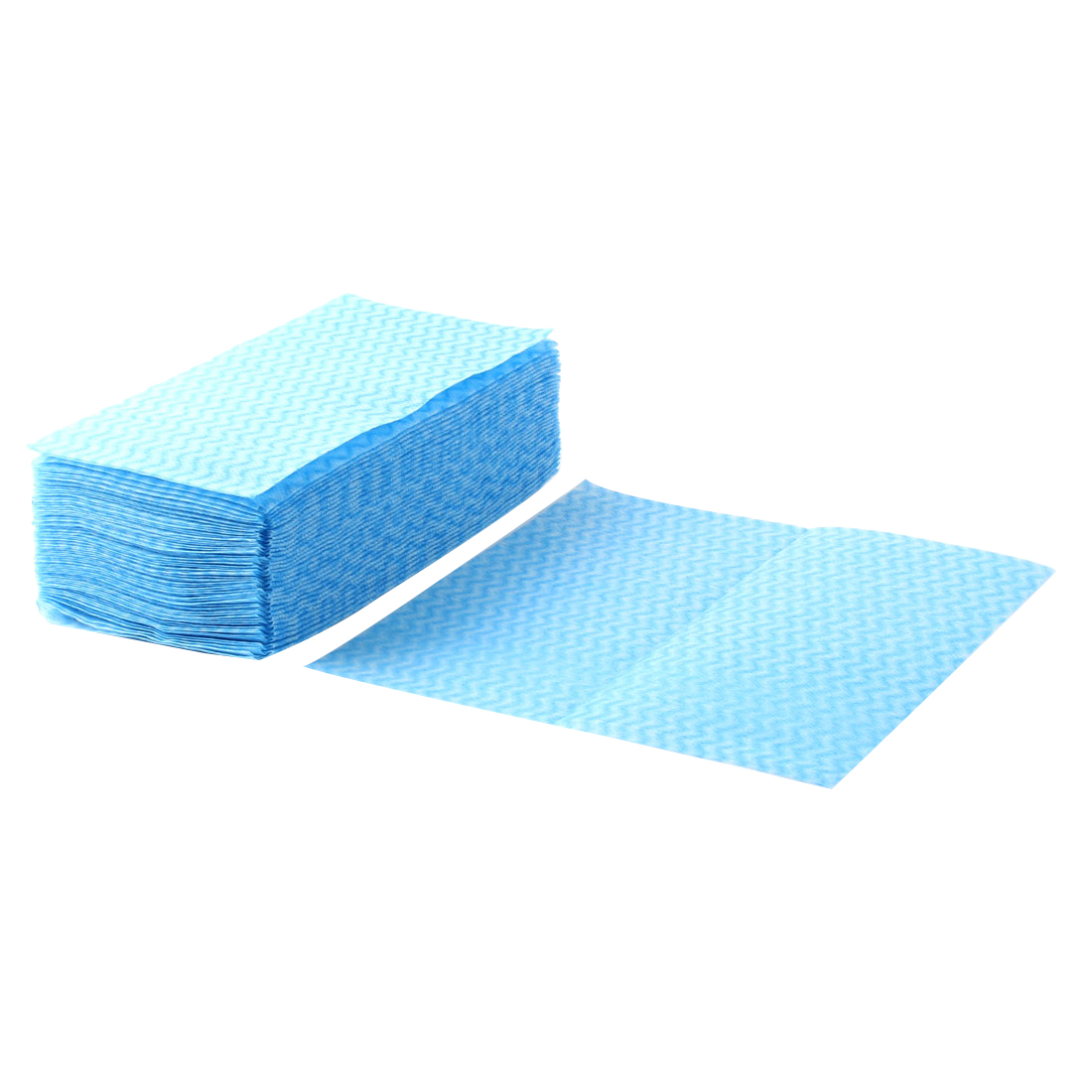 Kitchenware Rectangle Design Disposable Bowl Pot Dish Wiping Cleaning Cloth Blue 80pcs