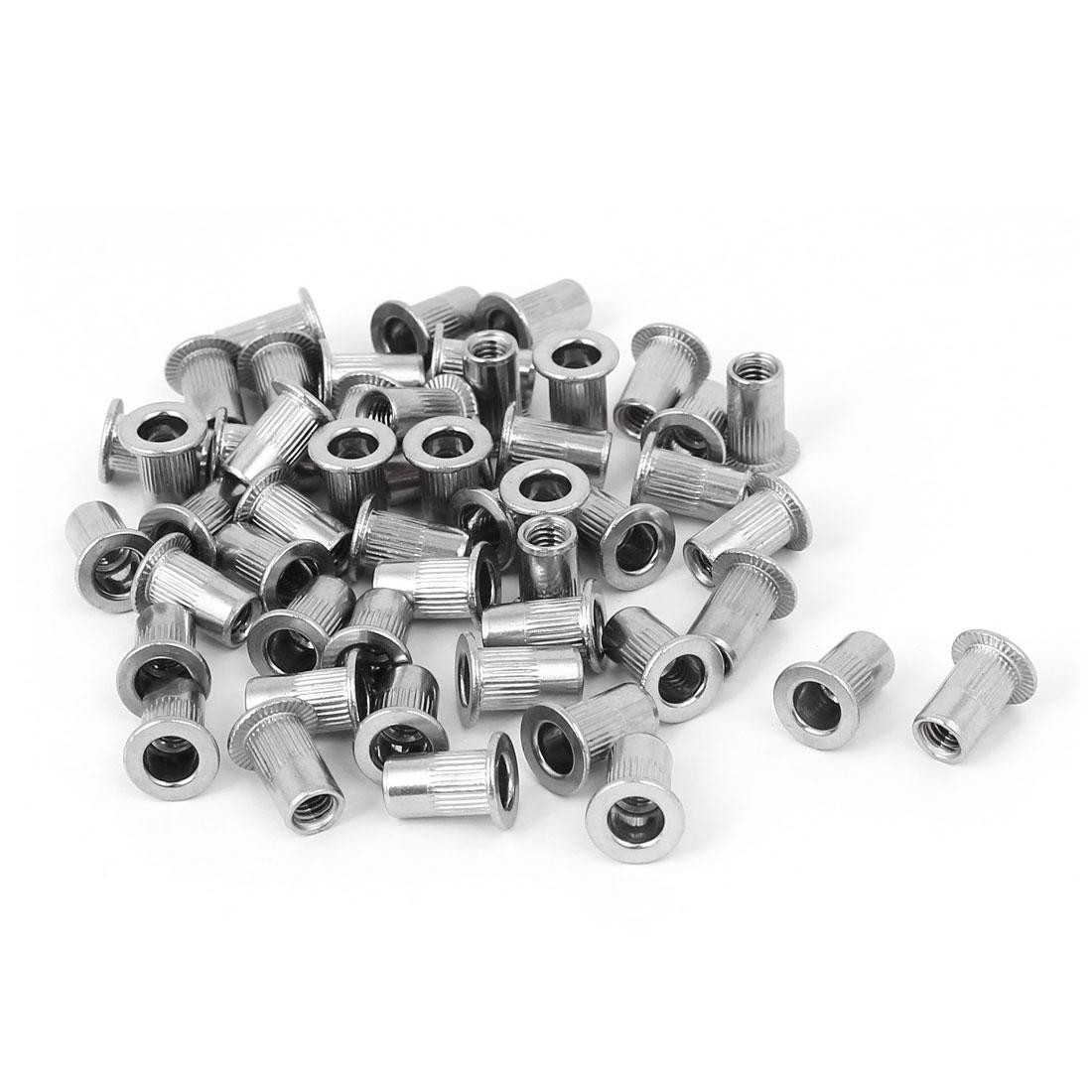 M4 x 11mm 304 Stainless Steel Knurled Rivet Nut Insert Nutsert 50PCS