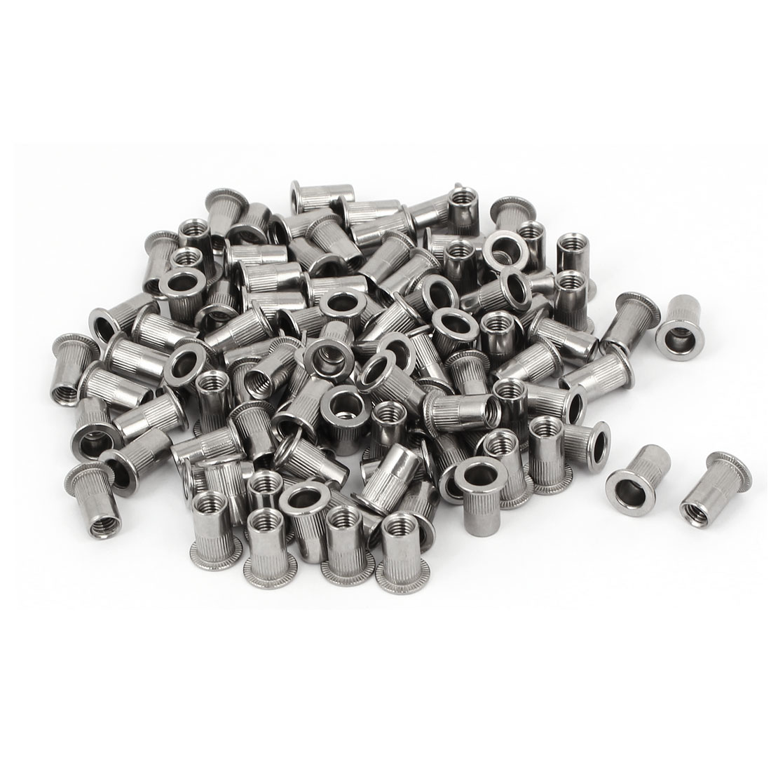 M5 x 13mm 304 Stainless Steel Knurled Rivet Nut Insert Nutsert 100PCS