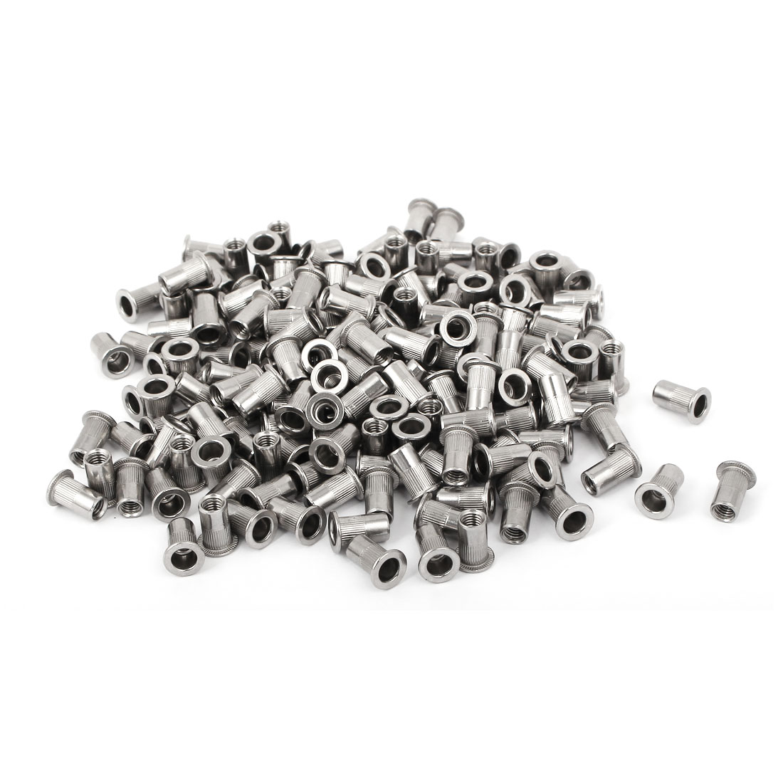 M5 x 13mm 304 Stainless Steel Knurled Blind Rivet Nut Insert Nutsert 200PCS