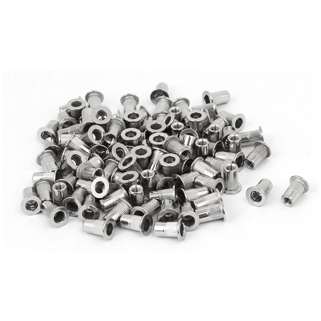 M3 x 0.5mm 304 Stainless Steel Stripe Blind Rivet Nut Insert Nutsert 100PCS