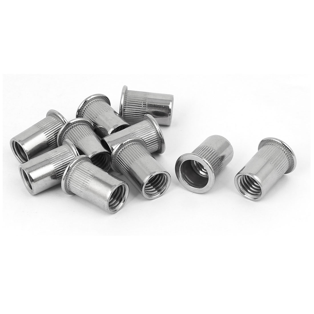 M12 x 1.75mm 304 Stainless Steel Stripe Blind Rivet Nut Insert Nutsert 10PCS