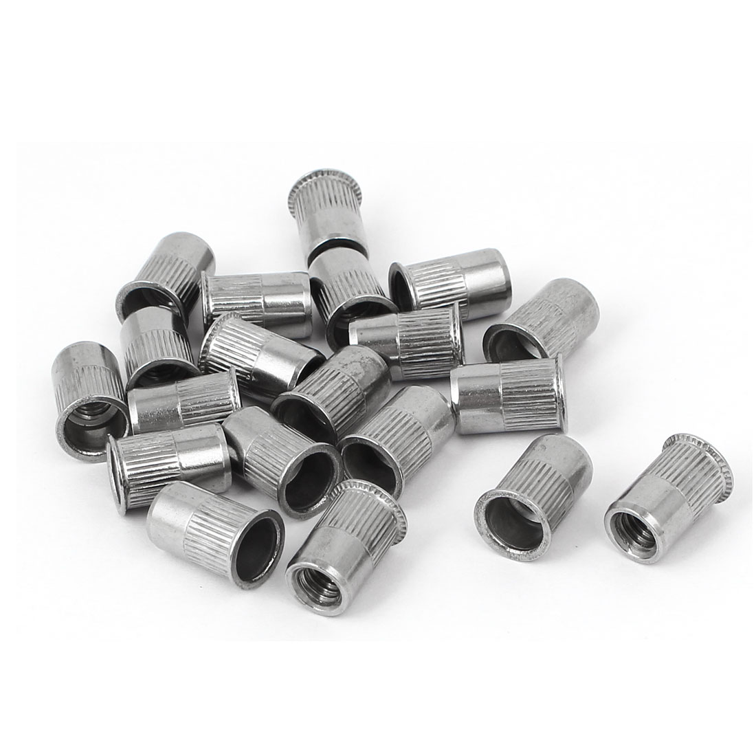 M6 x 14mm Stripe Countersunk Head Blind Rivet Nut Insert Nutsert 20PCS