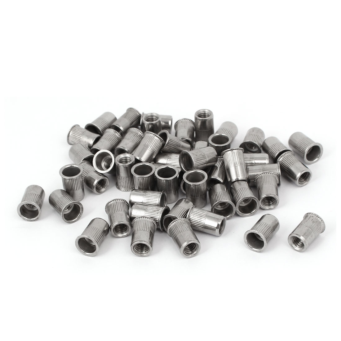 M6 x 14mm 304 Stainless Steel Countersunk Head Rivet Nut Insert Nutsert 50PCS