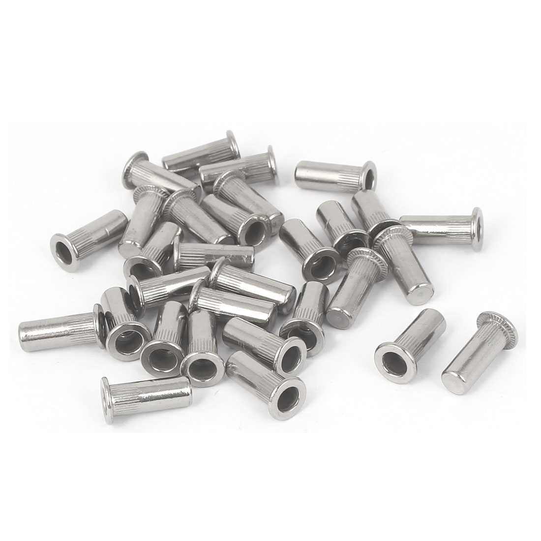M4x16mm 304 Stainless Steel Straight Knurled Closed End Rivet Nut Fastener 30pcs
