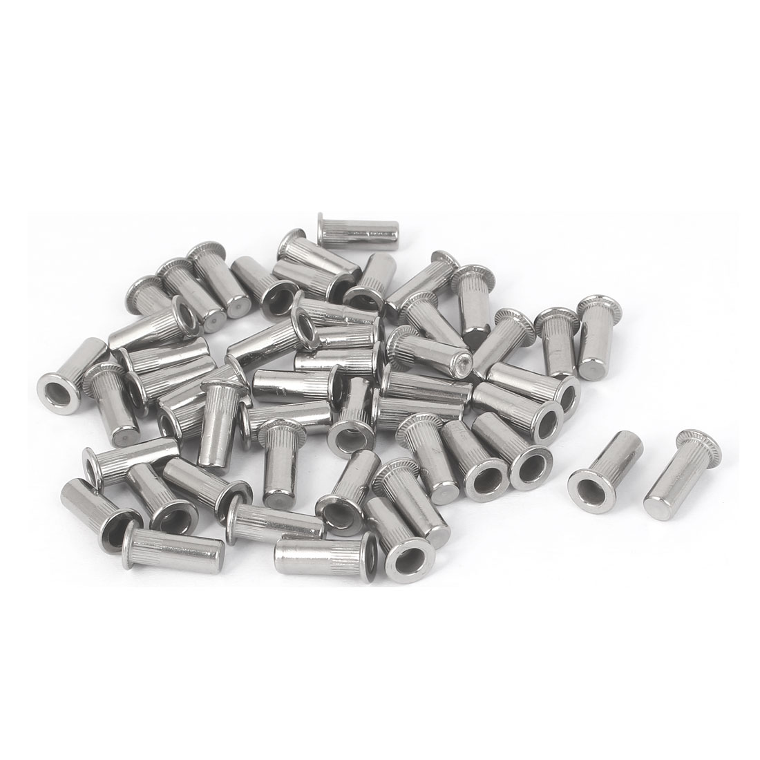 M4x16mm 304 Stainless Steel Straight Knurled Blind Rivet Nut Fastener 50pcs