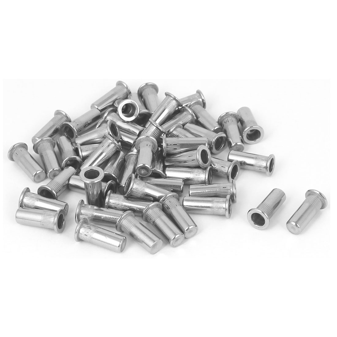 M5x18.5mm 304 Stainless Steel Straight Knurled Closed End Rivet Nut Fastener 50pcs