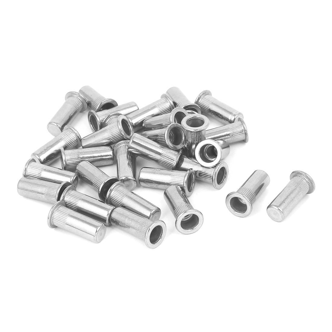 M6x23mm 304 Stainless Steel Straight Knurled Closed End Rivet Nut Fastener 30pcs