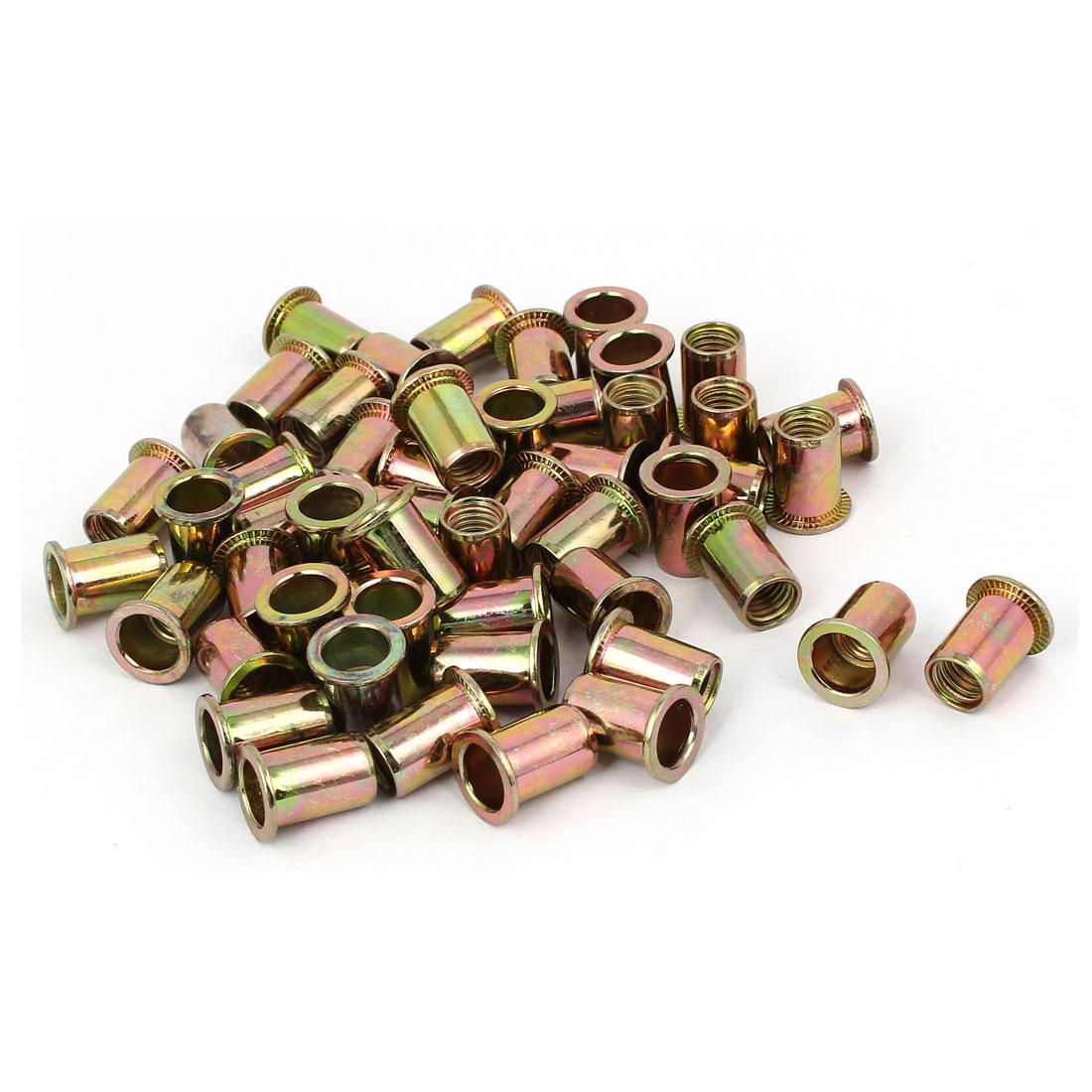 M10 x 20mm Blind Rivet Nut Open End Embedded Insert Nutsert 50PCS