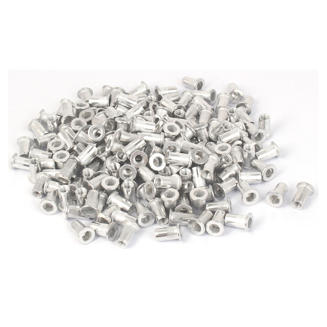 M5x13mm Aluminum Straight Knurled Blind Rivet Nut Fastener 200pcs