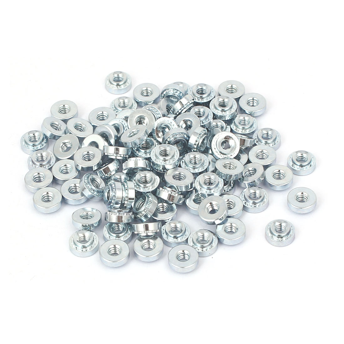 S-M2.5-1 Carbon Steel Self Clinching Rivet Nut Fastener 100pcs for 1.0mm Thin Plates