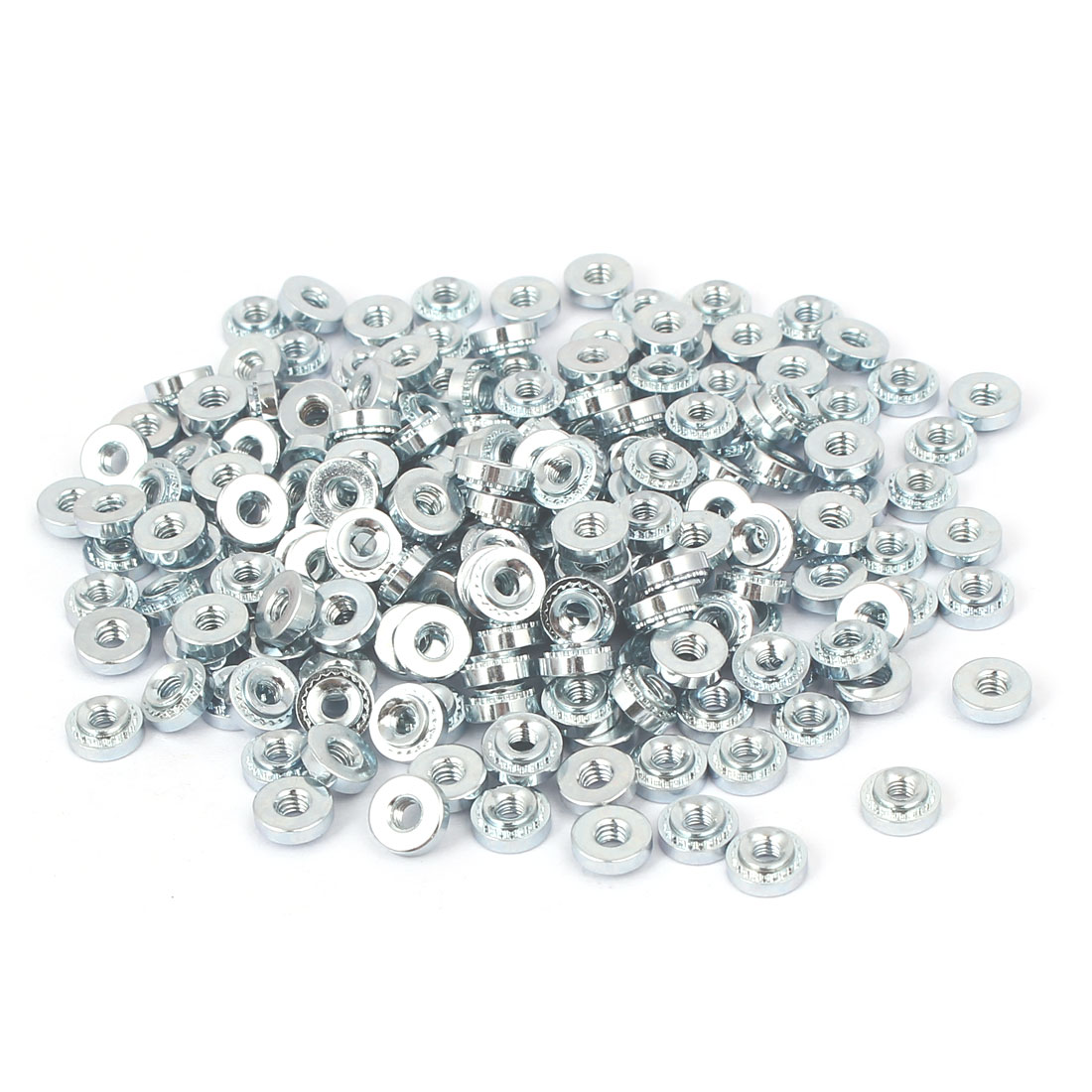 S-M2.5-1 Carbon Steel Self Clinching Rivet Nut Fastener 200pcs for 1.0mm Thin Plates