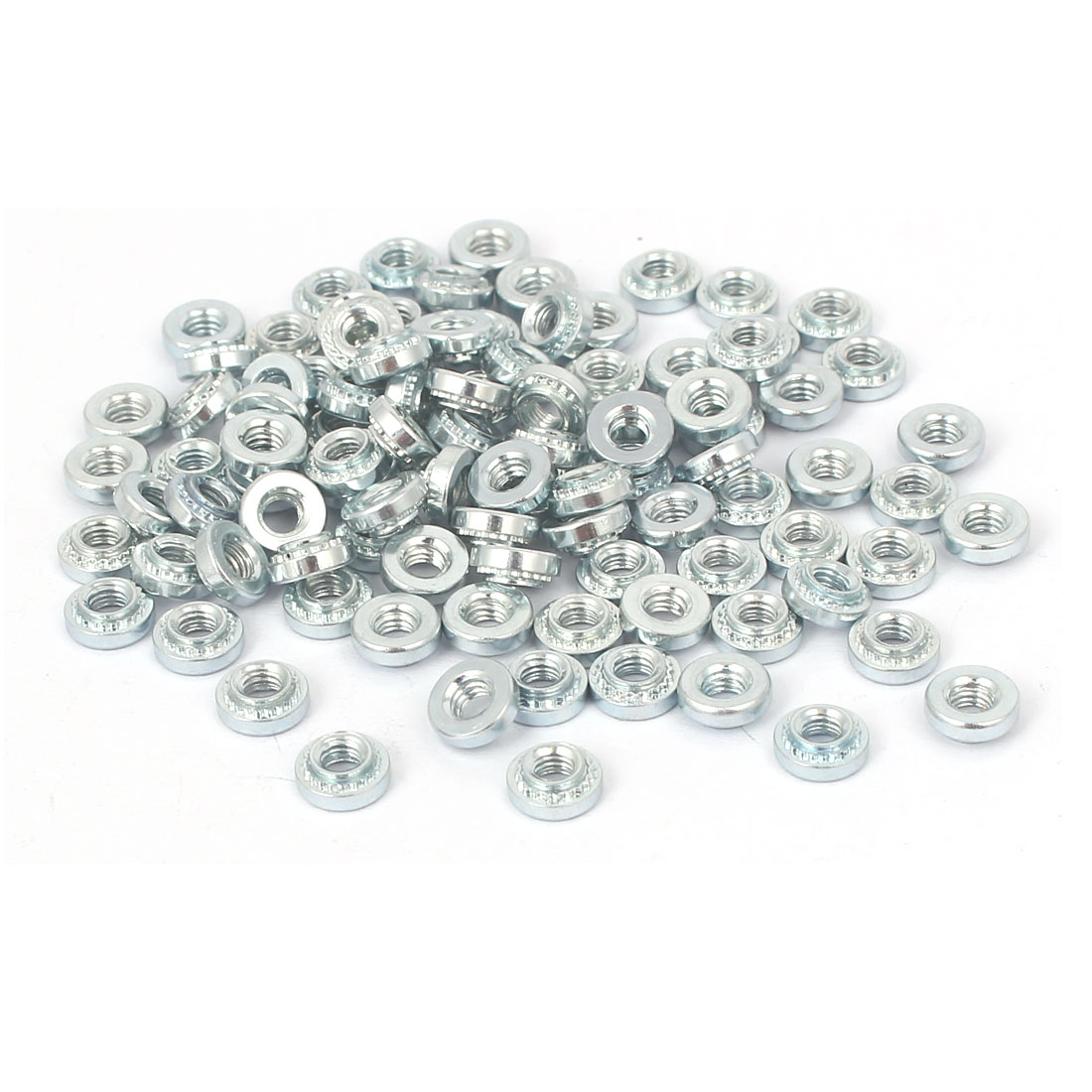 S-M3-0 Carbon Steel Self Clinching Rivet Nut Fastener 100pcs for 0.8mm Thin Plates