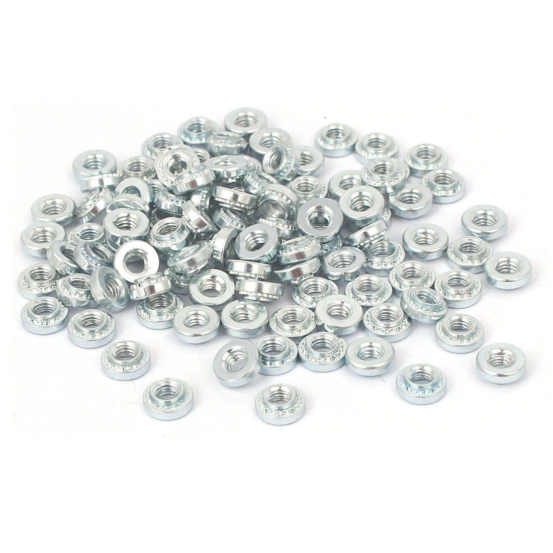 S-M3-1 Carbon Steel Self Clinching Rivet Nut Fastener 100pcs for 1.0mm Thin Plates