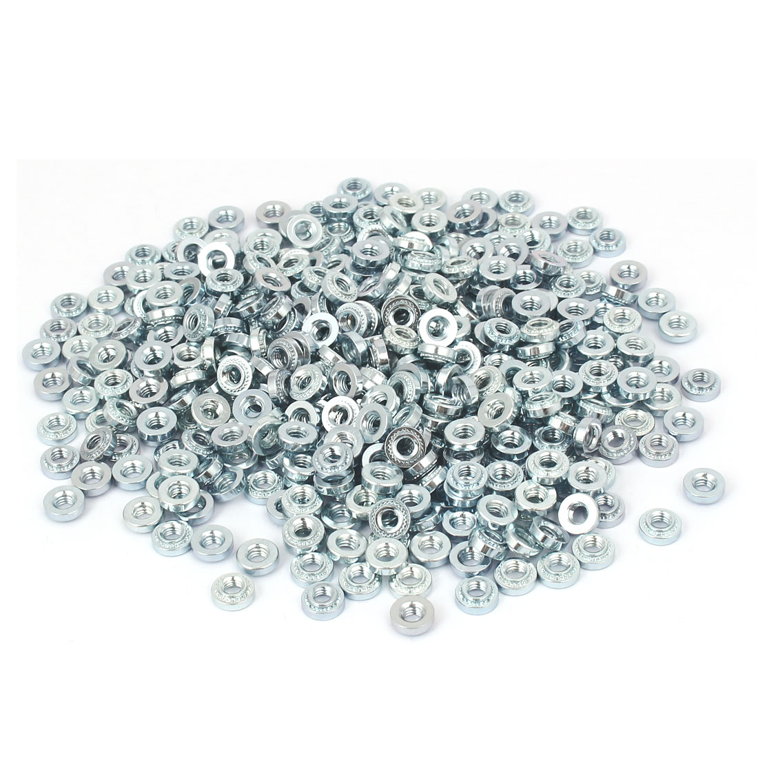 S-M4-1 Carbon Steel Self Clinching Rivet Nut Fastener 500pcs for 1.0mm Thin Plates