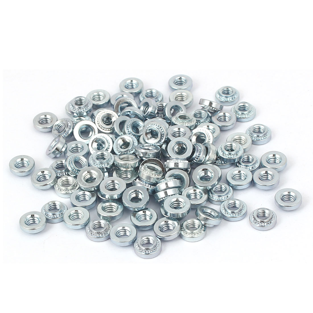 S-M4-2 Carbon Steel Self Clinching Rivet Nut Fastener 100pcs for 1.4mm Thin Plates