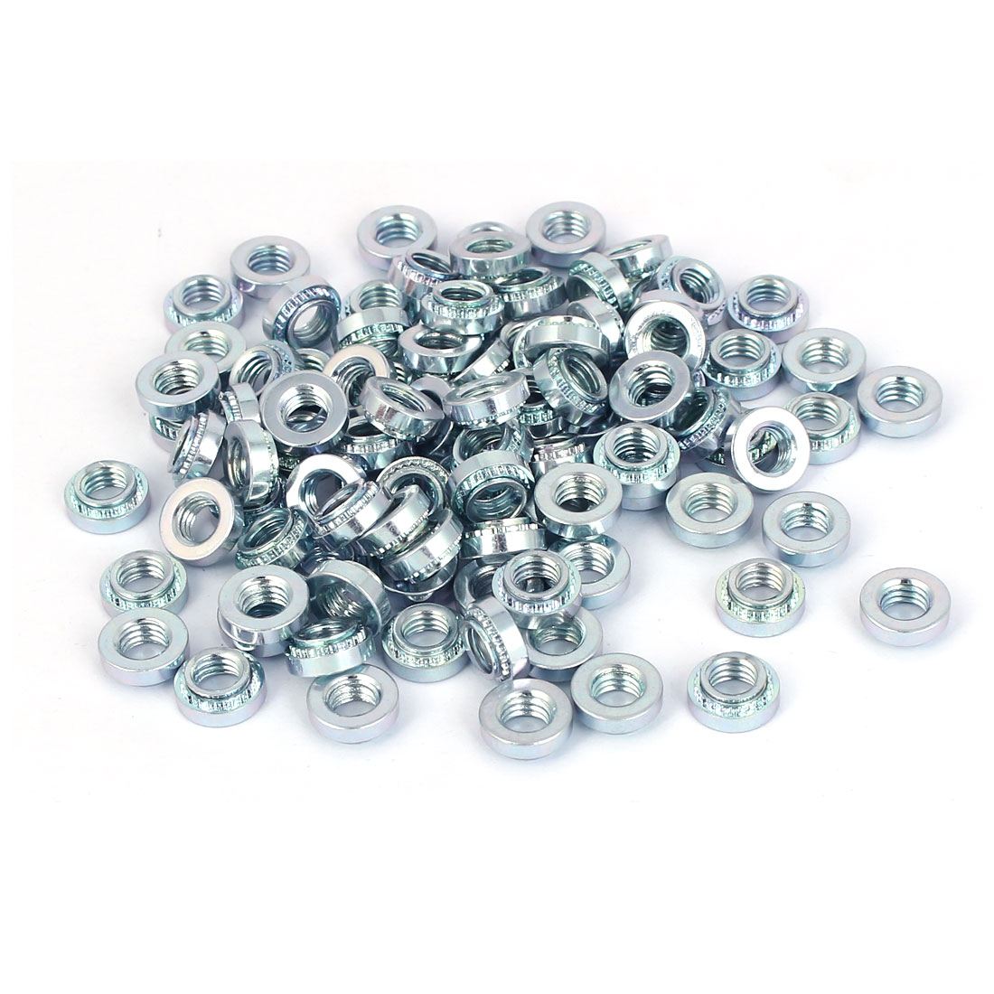 Carbon Steel Self Clinching Nut 5mm Thread Dia 100pcs for 1.4mm Thin Plates