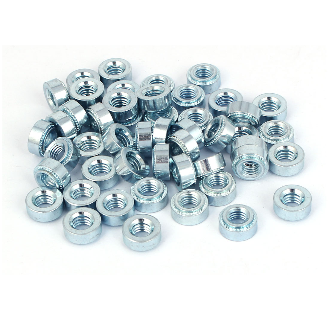 Carbon Steel Self Clinching Nut 6mm Thread Dia 50pcs for 1.2mm Thin Plates