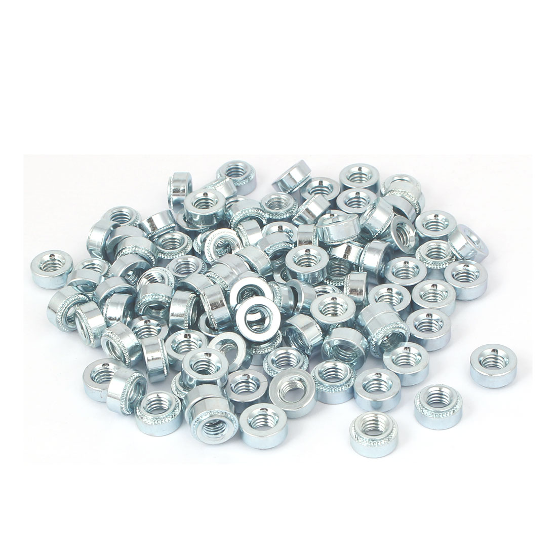S-M6-1 Carbon Steel Self Clinching Rivet Nut Fastener 100pcs for 1.4mm Thin Plates