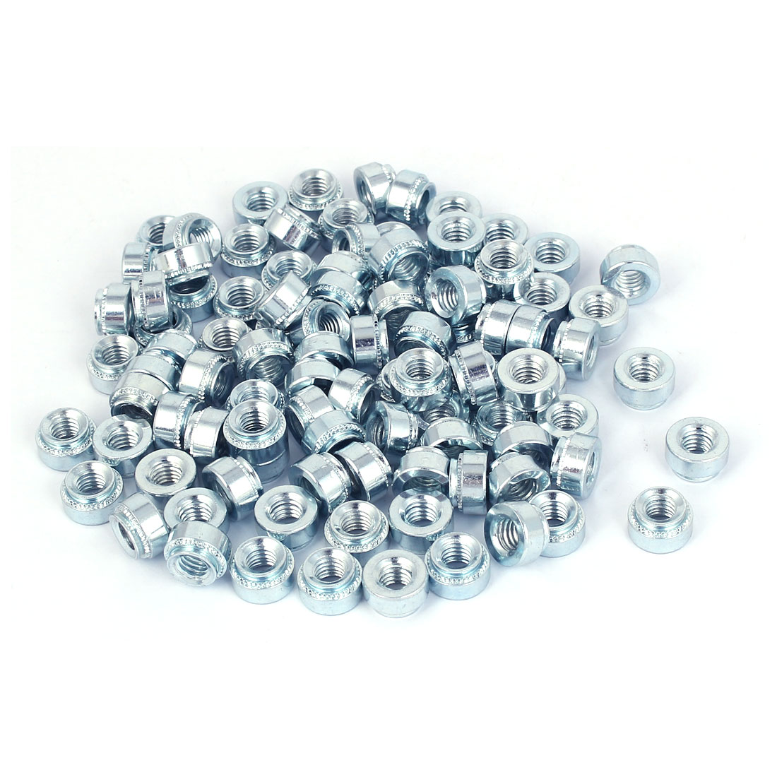 Carbon Steel Self Clinching Rivet Nut S-M6-2 100pcs for 2.3mm Thin Plates