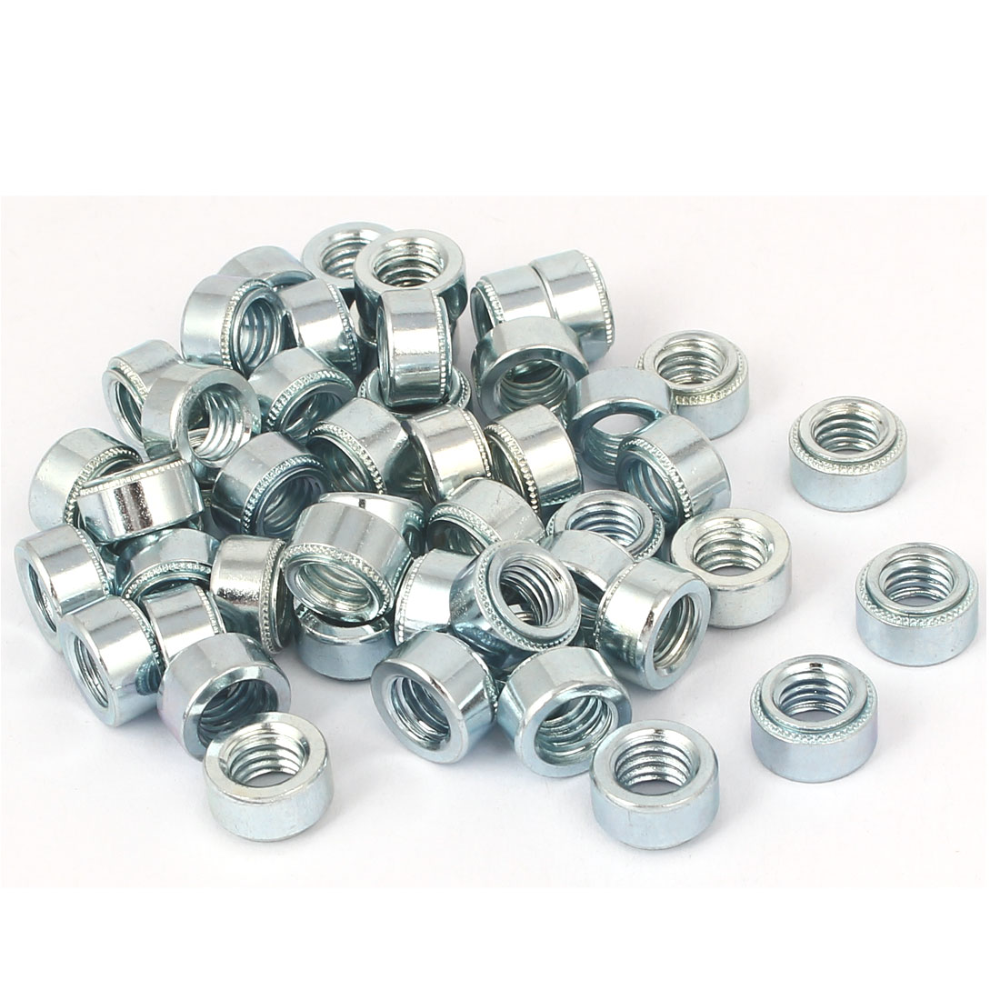S-M8-1 Carbon Steel Self Clinching Rivet Nut Fastener 50pcs for 1.4mm Thin Plates